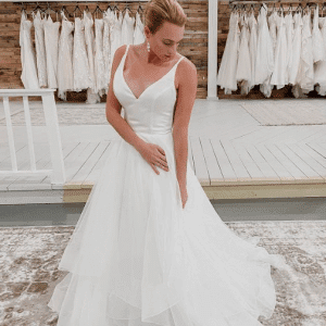 silk and chiffon wedding dress