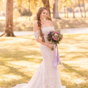 off the shoulder lace wedding dress mermaid cut