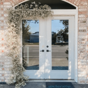 bridal shop front doors